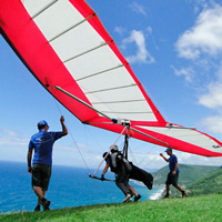 Hang-gliding tandem flight
