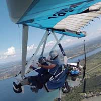 Powered hang-glider - Aprentice pilot - St-Cuthber
