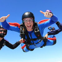 DVD of your sky diving tandem jump - Montreal