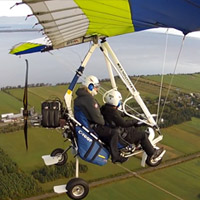 Powered hang-glider  - 60 minutes  - Quebec