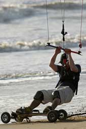 Kite mountain board ou kiteboarding