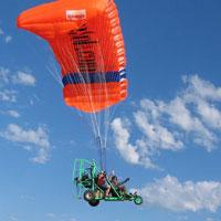 parachute motorisé, parachute à moteur